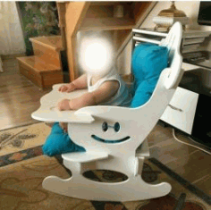 Baby Feeding Chair For Laser Cut Cnc Free CDR Vectors Art