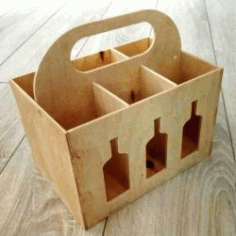 Beer Box Caddy For Laser Cut Cnc Free CDR Vectors Art