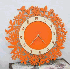 Chasy Ok Wall Clock Fancy Free DXF File