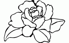 Flower Rose Free DXF File