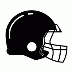 Football Helmet Free DXF File