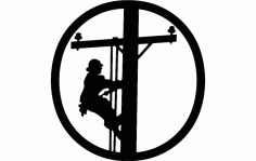 Lineman Hitch Cover Free DXF File