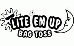Lite Em Up Bag Toss Logo Free DXF File