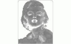 Marilyn Monroe Girl Free DXF File