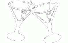 Martini Drink Free DXF File
