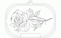 Rose Free DXF File