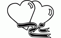 Two Hearts Free DXF File