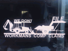 Workmans Comp 29 X 11 Free DXF File