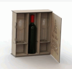 Box Caixa De Vinho For Laser Cut Plasma Free CDR Vectors Art