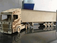 Container Truck For Laser Cut Cnc Free CDR Vectors Art