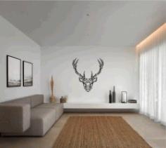 Deer For Laser Cut Plasma Free CDR Vectors Art