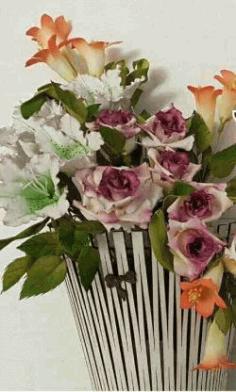 Design Of Indoor Flower Arrangement Basketsv For Laser Cut Cnc Free CDR Vectors Art
