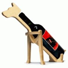 Dog Shaped Wine Rack For Laser Cut Cnc Free CDR Vectors Art
