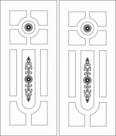 Door Pattern Has A Unique Pattern Design For Laser Cut Cnc Free CDR Vectors Art