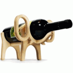 Elephant Wine Rack For Laser Cut Cnc Free CDR Vectors Art