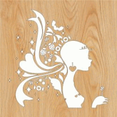 Girl Sweet Teen For Laser Cut Plasma Free CDR Vectors Art