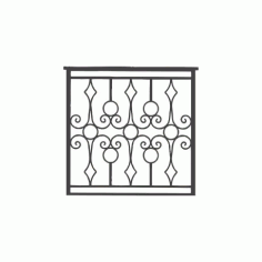 Iron Grille Gate Free DXF File