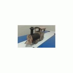 Laser Cut Locomotive Wooden Toy Free DXF File