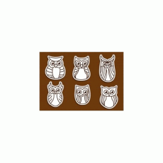 Owl Outline Free DXF File