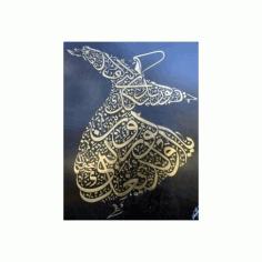 Semazen Duvar Sticker Free DXF File