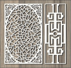 Oval Pattern For Laser Cut Cnc Free CDR Vectors Art