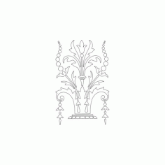 Decorative Floral f55 Free DXF File