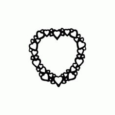 Heart Frame Free DXF File