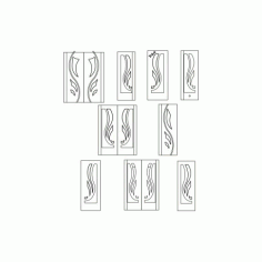 Interior Door Designs Free DXF File