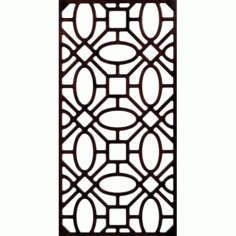 Partition Wall Pattern 300 v2 Free DXF File