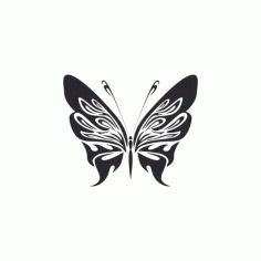 Tribal Butterfly Art 07 Free DXF File