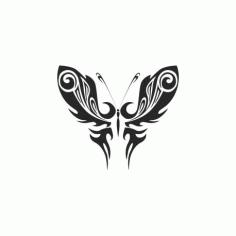 Tribal Butterfly Art 50 Free DXF File