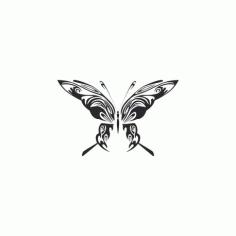 Tribal Butterfly Art 48 Free DXF File