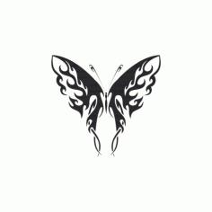 Tribal Butterfly Art 41 Free DXF File