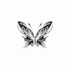 Tribal Butterfly Art 40 Free DXF File