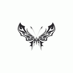 Tribal Butterfly Art 35 Free DXF File