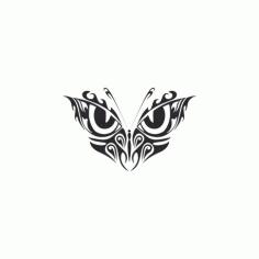 Tribal Butterfly Art 33 Free DXF File