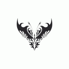 Tribal Butterfly Art 24 Free DXF File