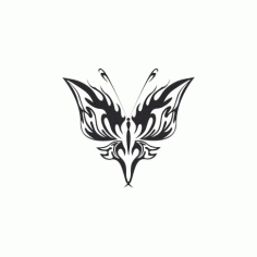 Tribal Butterfly Art 21 Free DXF File