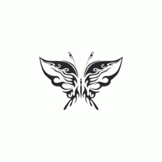 Tribal Butterfly Art 19 Free DXF File