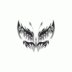 Tribal Butterfly Art 16 Free DXF File