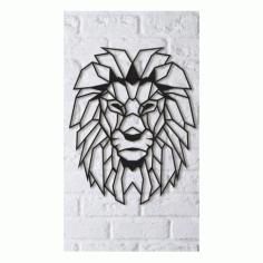 Aslan Lion Art Free DXF File