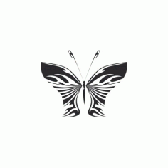 Butterfly Art Illustration Free DXF File