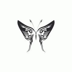 Butterfly Illustration Free DXF File