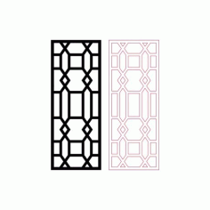 Decorative Room Divider Pattern Design Free DXF File