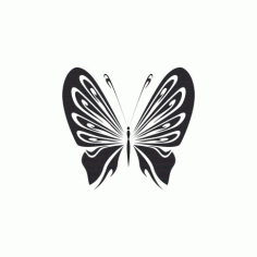 Doodle Butterfly Free DXF File