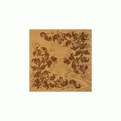 Floral Ornament Pattern Free DXF File
