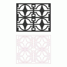Grille Pattern Designs 122 Free DXF File