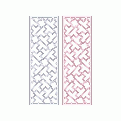 Modern Abstract Geometry Tetris Pattern Free DXF File