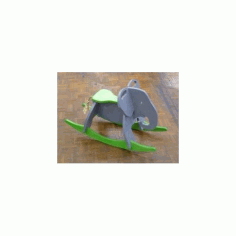 Toy Elephant Rocker Free DXF File