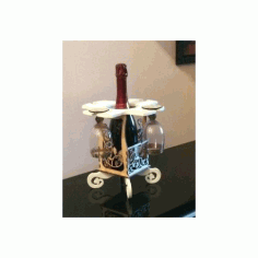 Wine Caddy 3d Puzzle Laser Cut Free DXF File